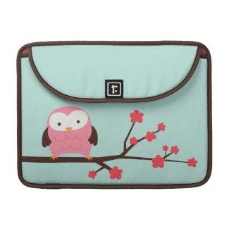 Spring Owl Macbook Sleeve rickshawflapsleeve