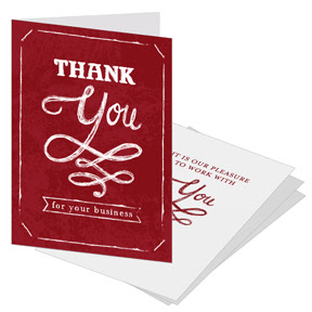 Business Thank You Cards With Slots For Business Card