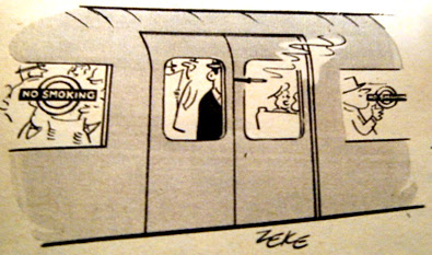 No Smoking 1966 Cartoon by Zeke