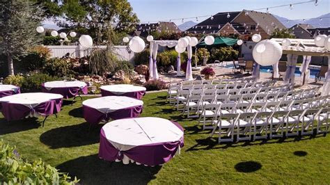 Backyard wedding decorations   theradmommy.com