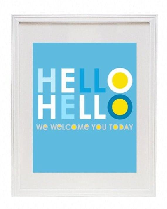 Hello, Hello 8 x 10 Modern Art Print