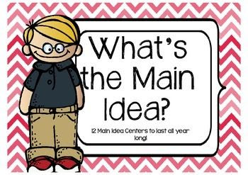 This pack includes 12 themed centers for practicing Main Idea all through the year! Each station comes with two sets of cards (main idea and support details) and a graphic organizer to show work. Answer keys are provided for you!