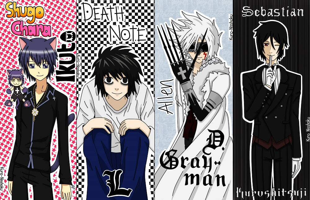 Marcapáginas De Shugo Chara Death Note D Gray Man Y Kurochitsuji