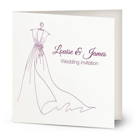 Dress wishes wedding invitation   Beautiful Wishes