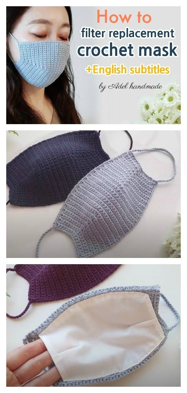 Free Face Mask Patterns - DIY Face Mask Cover Up Free Crochet Pattern - Knit And ...