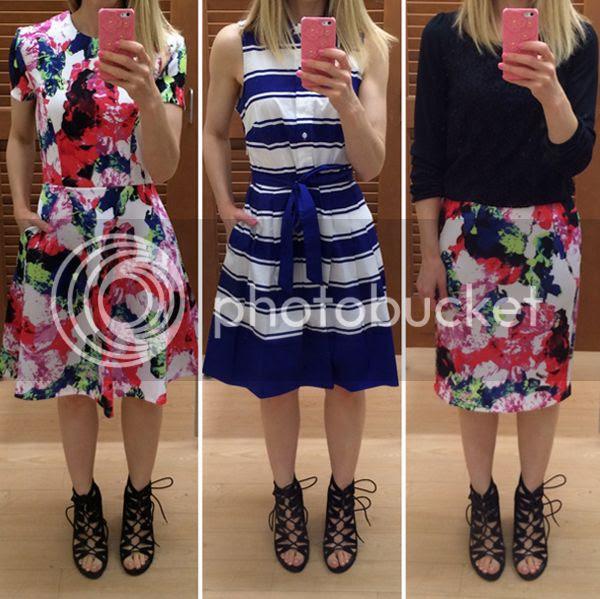 Milly for Kohls Floral Stripe Dress