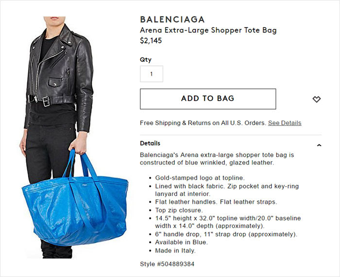Image result for balenciaga bag vs ikea bag