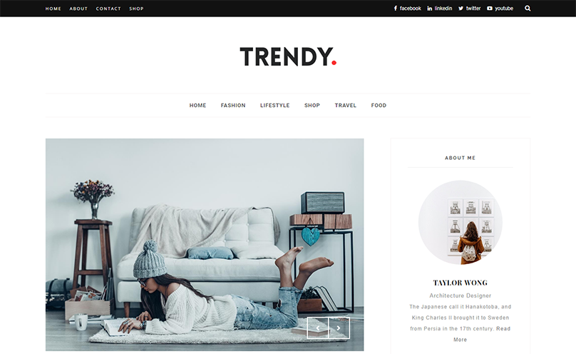 Demonstração Theme Trendy Responsivo Clean Blogger 2018