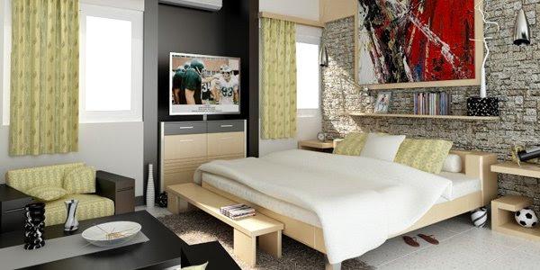 Small Studio Type Apartment Interior Design