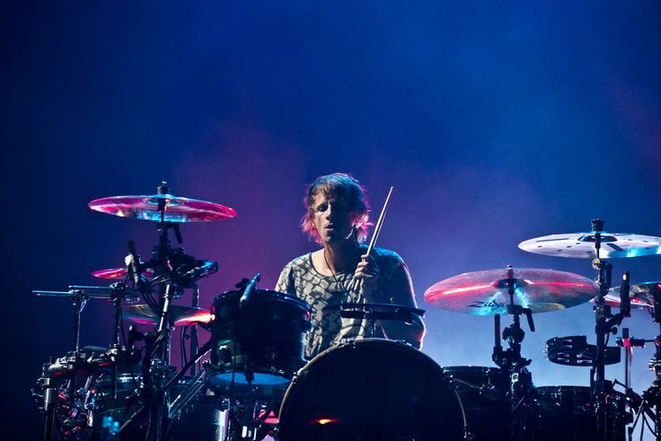 (Molly J. Smith   Special to The Salt Lake Tribune)   Drummer Dominic Howard of Muse performs at the Energy Solutions Arena in Salt Lake City, Utah, on Sept. 20, 2013.