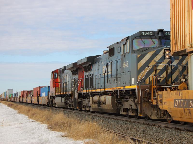 Ex BC Rail BCOL 4645 in Winnipeg