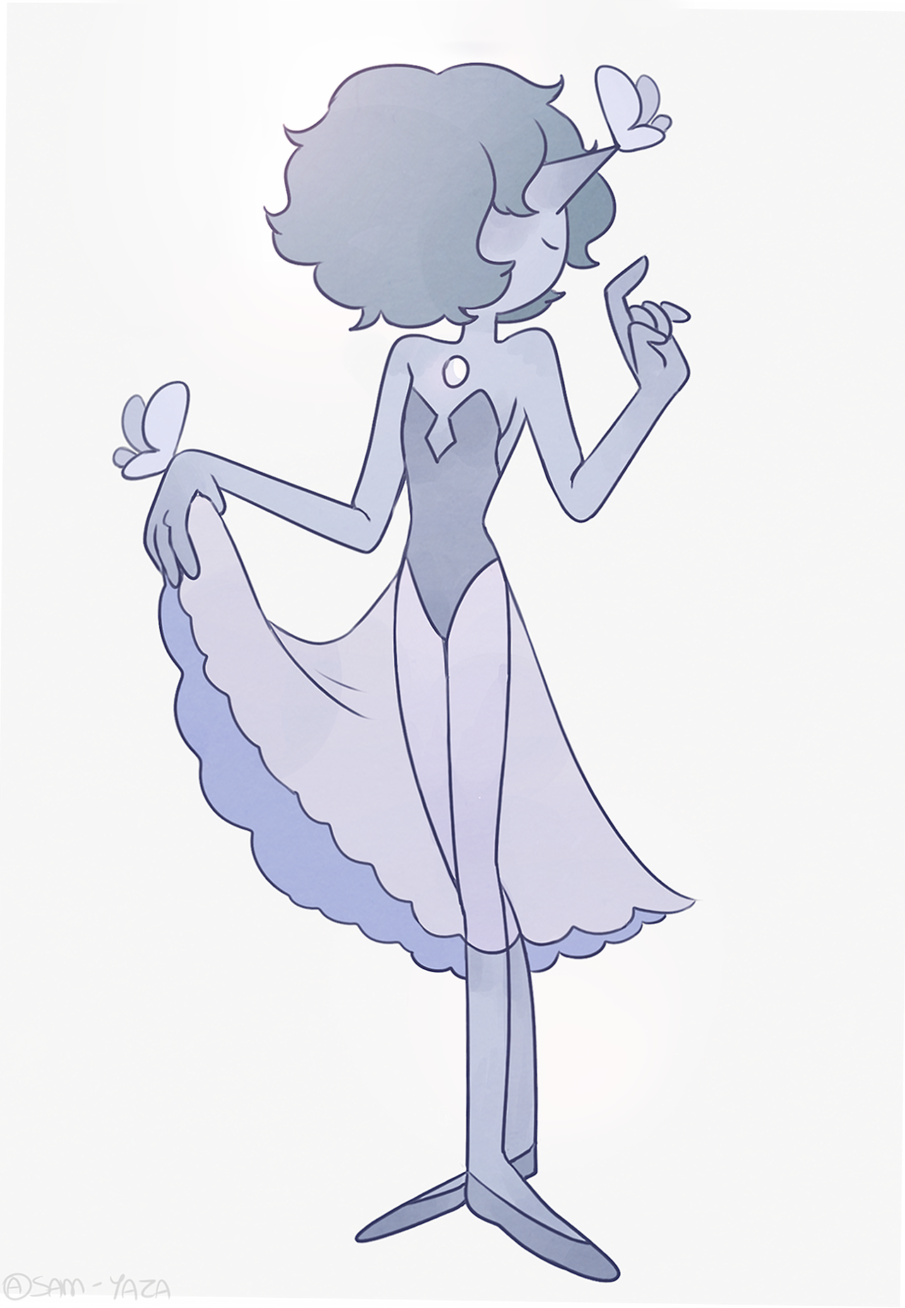 Another Blue pearl doodle!