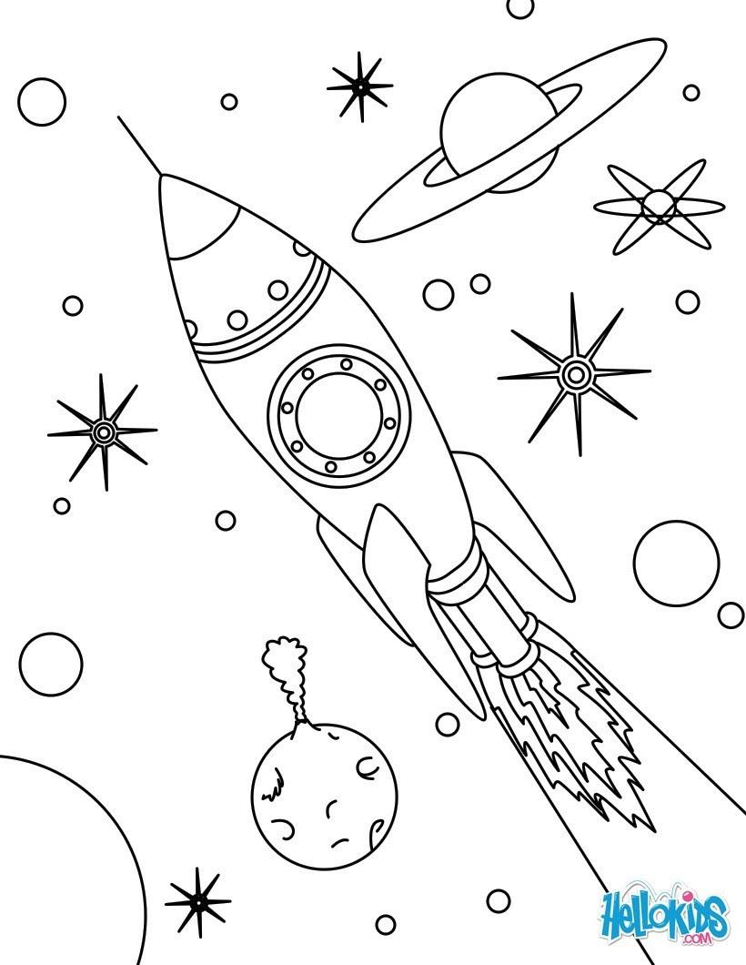 rocket space drawing - HD802×1024