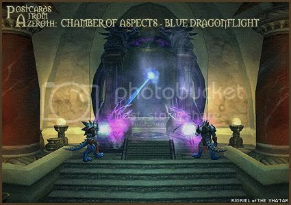 Postcards of Azeroth: Chamber of Aspects - Blue Dragonflight, by Rioriel Ail'thera