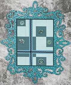 @FryeStyle Ornamental Teal Art Quilt by Hilary Frye