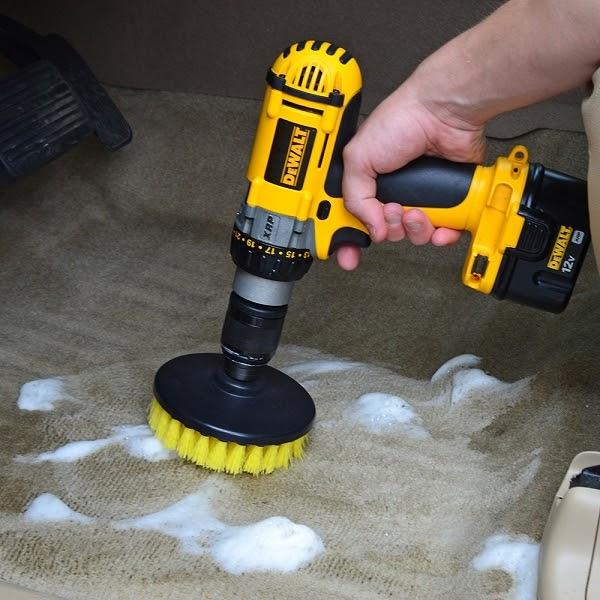 Interior Detailing Drill Brush