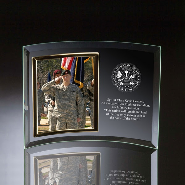 Army Glass Vertical 5x7 Photo Frame
