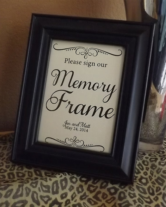 Guest Book Memory Frame Please Sign Our Memory Frame Wedding Signs