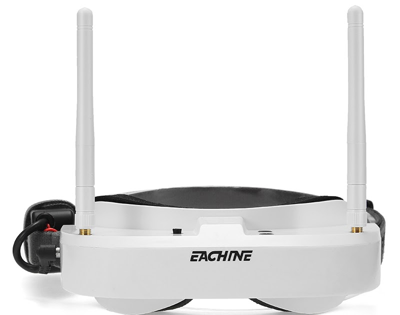 Eachine EV100 720540 58G 72CH FPV Goggles With Dual Antennas Fan 74V 1000mAh Battery For RC Drone 9599 USD