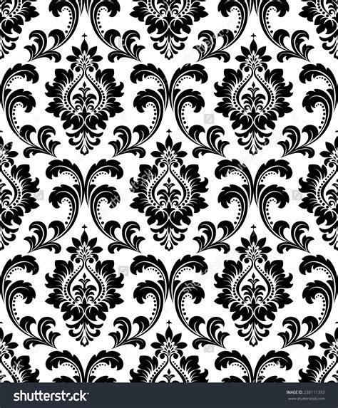 black  white floral pattern wallpaper gallery