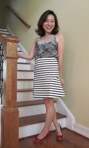 striped flounce