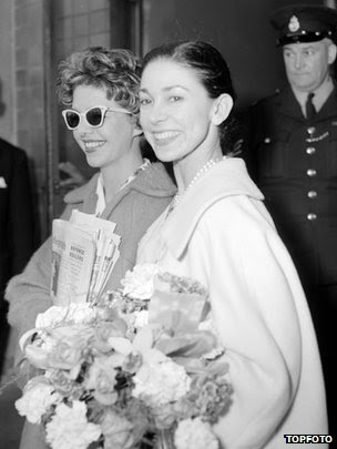 Judy Tatham and Dame Margot Fonteyn