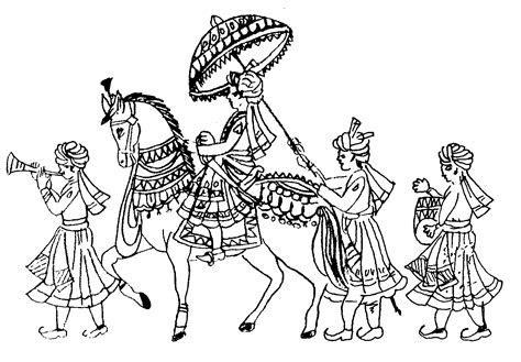 Free Indian Wedding Line Art, Download Free Clip Art, Free