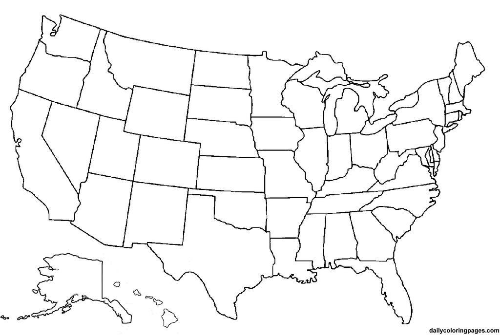 Blank America Map
