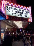Lawrence of Arabia, 12.30.2012 Marquee for 50th anniversary restoration of Lawrence of Arabia at the Castro Theatre.