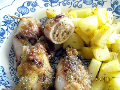 Calamari ripieni al forno