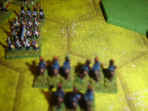 French infantry assaults blown Prussian hussars