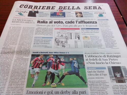 Italia al voto, in prima pagina by Ylbert Durishti