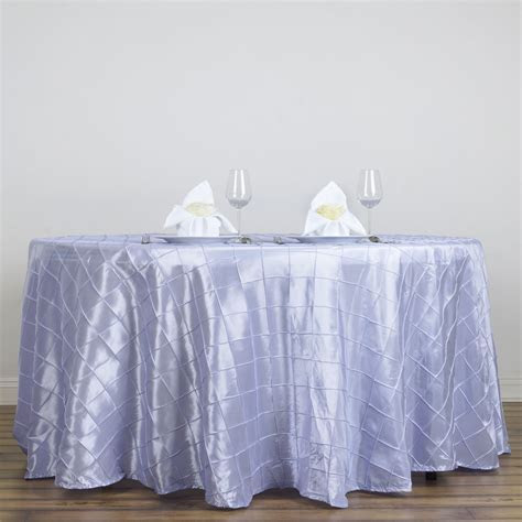 """108"""" Round Pintuck Fancy TABLECLOTH Wedding Party Table"""