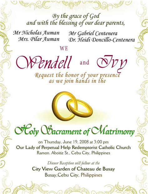 Invitation Card Designs   Wendell & Ivy Wedding