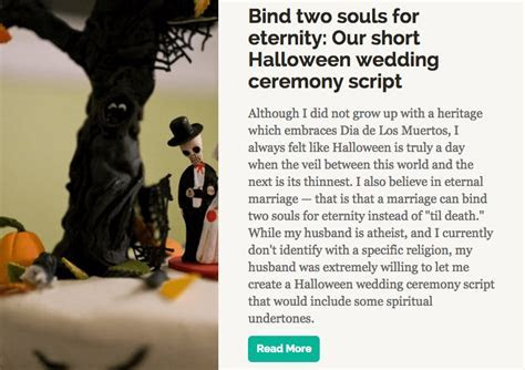 Halloween and gothic wedding style from head to toe