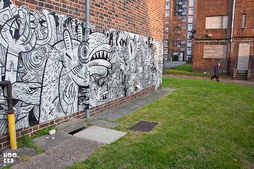 Kings Land Mural Project, Haggerston London. Photo ©Hookedblog / Mark Rigney