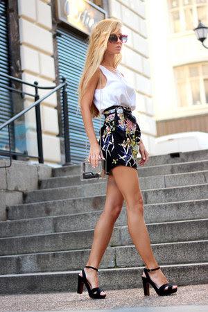 skirt - WOAKAO bag - choiescom sunglasses - top - sandals