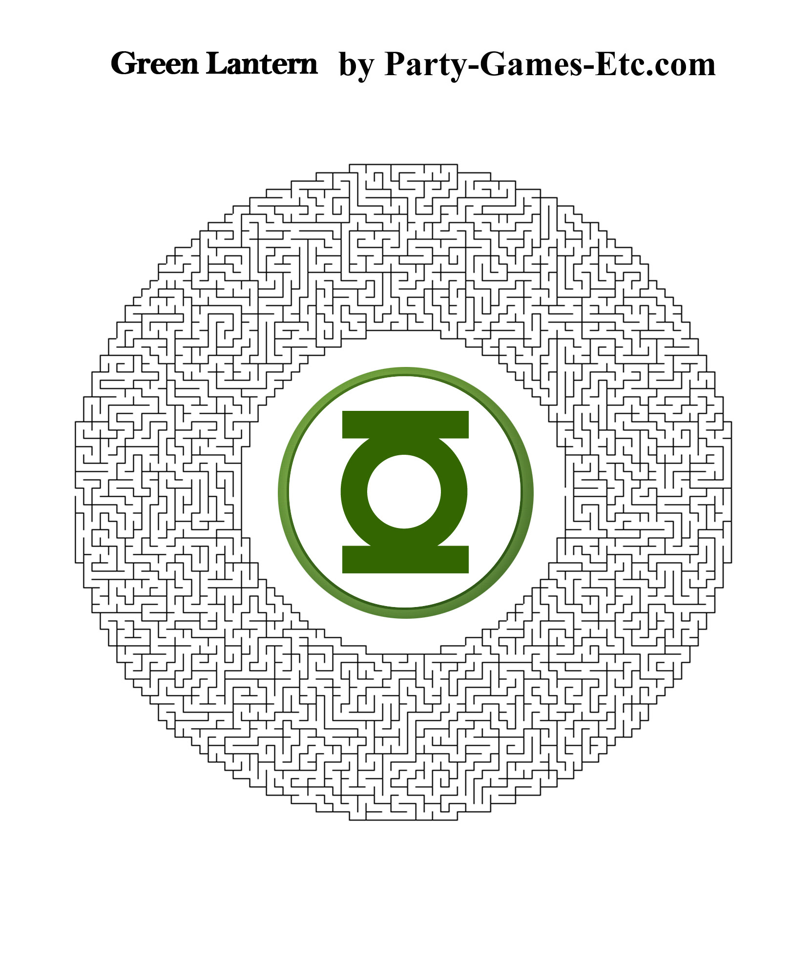 Green Lantern Party Games, Free Printable Games and Activities for ...