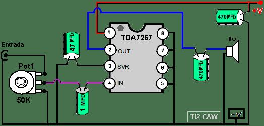 amplificador tda7267