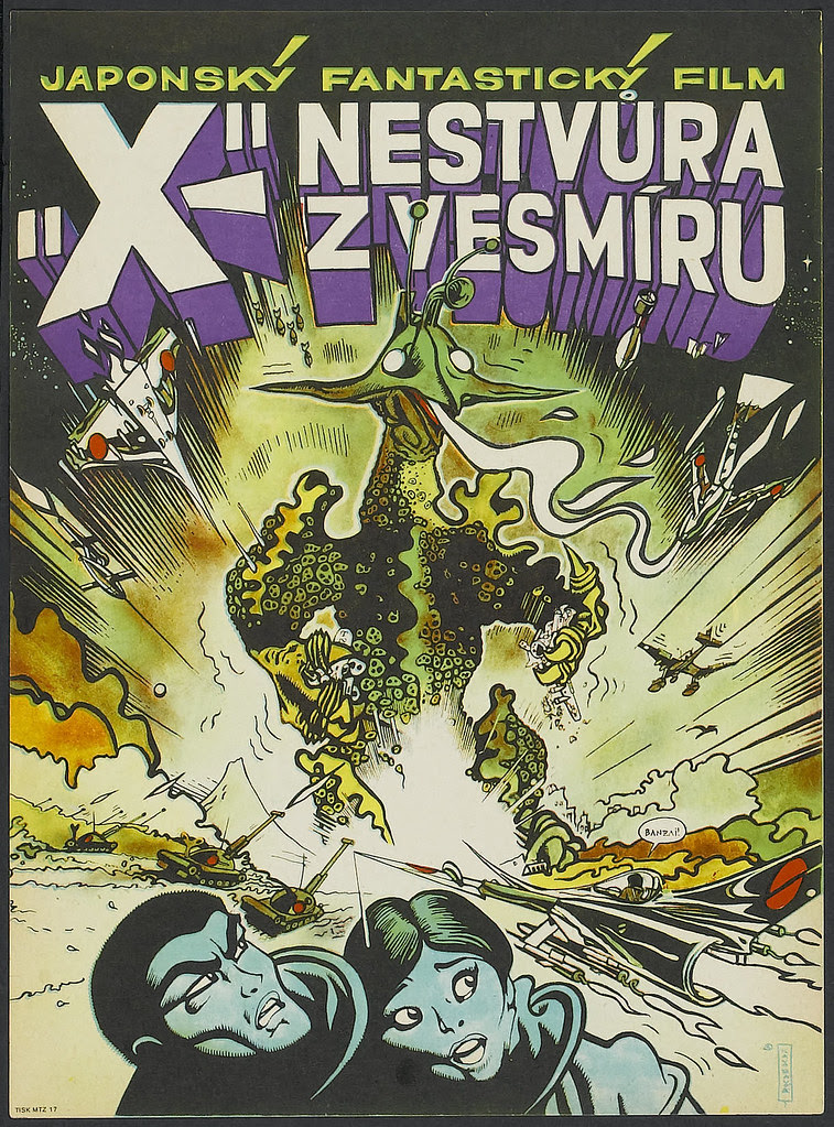 The X from Outer Space (Shochiku Kinema Kenkyu-jo, 1968) Czech Poster