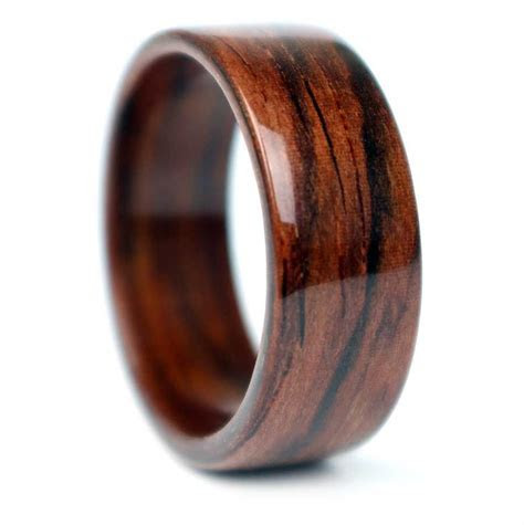 Rosewood Wooden Ring handmade in Chicago, IL. Each ring is