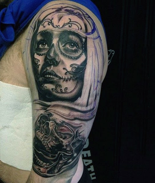 70 Day Of The Dead Tattoos For Men Mexican Holiday Designs