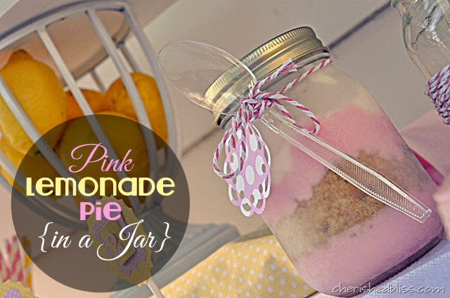 Pink Lemonade Pie in a Jar