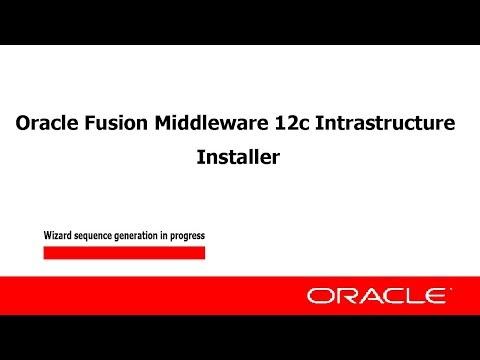 Install fmw infrastructure and WebLogic Server12c