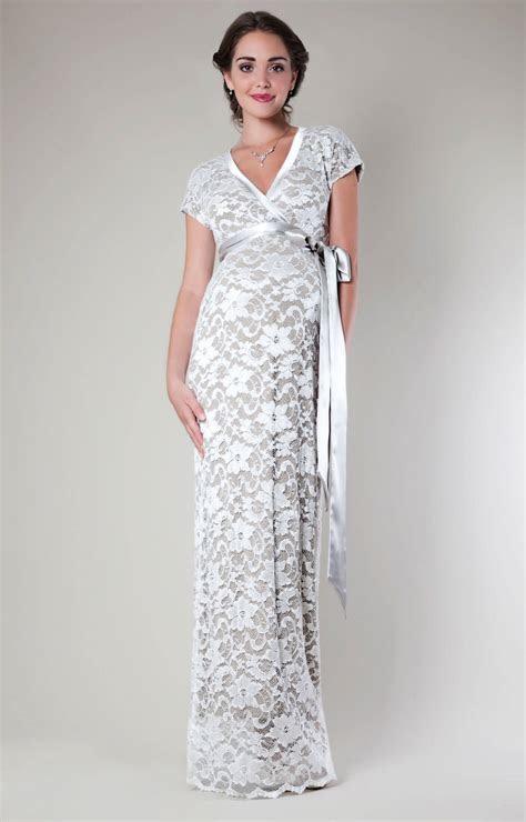 Grace Lace Maternity Dress Long (Ivory)   Maternity