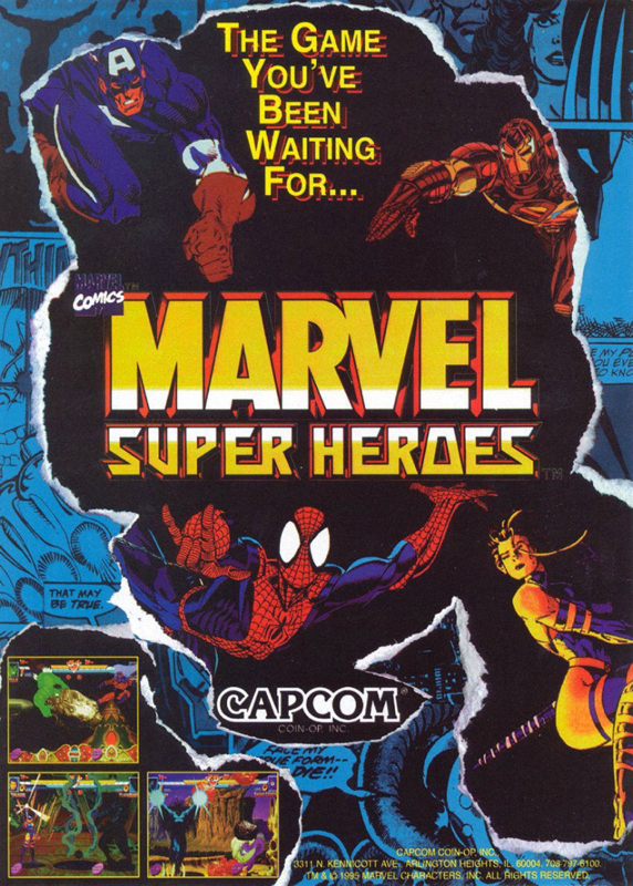 ultra rom cover msh marvel super heroes cps2 capcom marvel