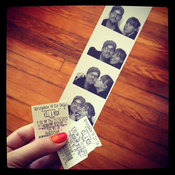 Last night was for one of my favorite black-and-white movies on a big screen and photo-booth fun.