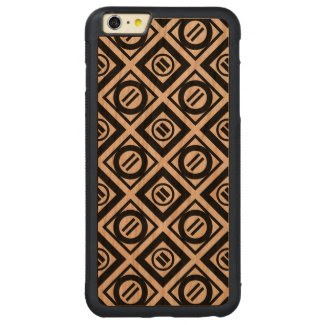 Black Equal Sign Geometric Pattern on White Carved® Cherry iPhone 6 Plus Bumper Case