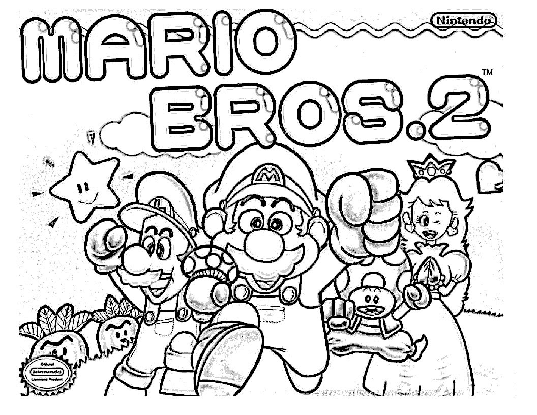 Coloriage Mario Bros A Imprimer
