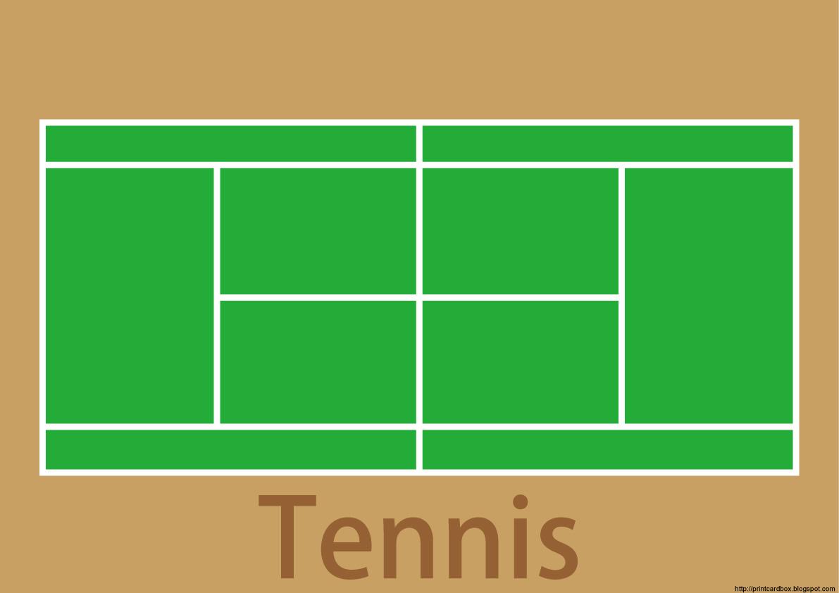 カードboxデザイン129テニスコートカード
